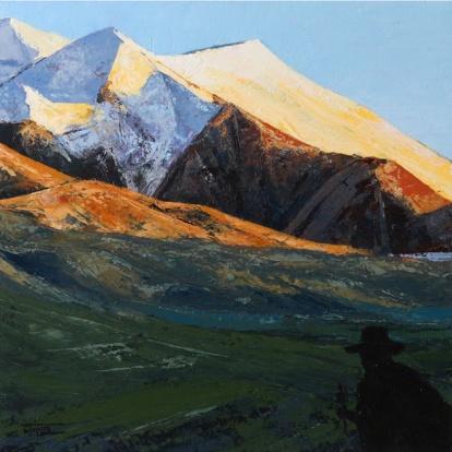 «Parikrama. Inner Tibet series», acrylic on canvas, palette knife, 60 x 60 cm, 北京 2016
